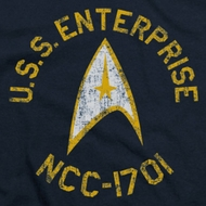 Star Trek Distressed NCC-1701 Shirts