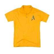 Star Trek Embroidered Polo Shirt Command Patch Gold