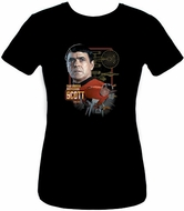 Star Trek Juniors Shirt - Chief Engineer Scott Black Tee