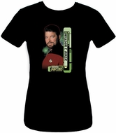 Star Trek Juniors Shirt - Riker The Next Generation Black Tee