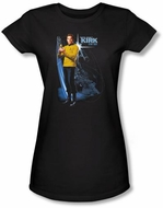 Star Trek Juniors T-shirt - Galactic Kirk Black Tee