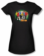 Star Trek Juniors T-shirt Original Crew Enterprises Finest Black Tee