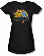 Star Trek Juniors T-shirt - Phasers Ready Black Tee