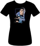Star Trek Juniors T-shirt - Spock Black Tee
