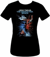 Star Trek Juniors T-shirt - The Search For The Spock Black Tee