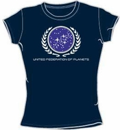 Star Trek Juniors T-shirt - United Federation Logo Navy Tee