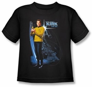 Star Trek Kids T-shirt - Galactic Kirk Youth Black Tee