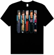 Star Trek Kids T-shirt - The Captains Youth Black Tee Shirt