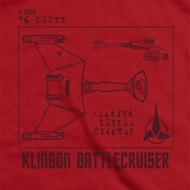 Star Trek Klingon Battlecruiser Shirts