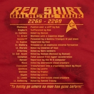 Star Trek Red Shirt Tour Shirts