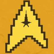 Star Trek - The Original Series 8 Bit Engineering Yellow Shirts