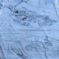 Star Trek - The Original Series Blue Print Sublimation Shirts