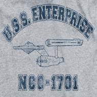 Star Trek Shirts - The Original Series Enterprise Athletic Ringer Shirts
