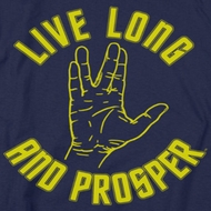 Star Trek - The Original Series Live Long Hand Shirts