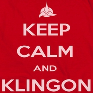 Star Trek - The Next Generation Calm Klingon Shirts
