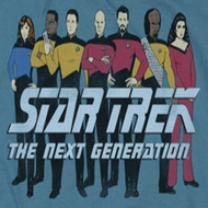 Star Trek - The Next Generation Line Up Shirts