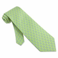 Starfish Silk Tie Necktie - Men's Animal Print Green Neck Tie