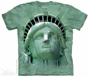 Statue Of Liberty Shirt Tie Dye Adult T-Shirt Tee