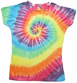 Sundog Pastel Swirl Juniors Ladies Tye Dye T-shirt