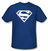 Superman Logo T-shirt Blue And White College Royal Blue Tee Shirt