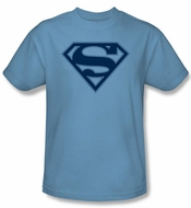 Superman Logo T-shirt Carolina Blue and Navy Adult Tee T-shirt