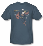 Superman Shirt DC Comics This Is A Job For Superman Slate Blue T-Shirt