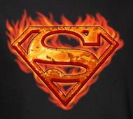 Superman Shirt - Mens Hot Metal Shield Tee - Black