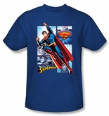 Superman Shirt The Man Of Steel Panels Royal Blue T-Shirt Tee
