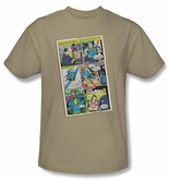 Superman Shirt  Vintage Comic Superhero DC Comics Adult Sand T-Shirt