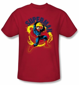 Superman T-shirt A Name To Uphold Adult Red Tee Shirt