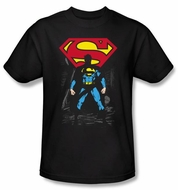 Superman T-shirt DC Comics Dark Alley Logo Black Tee Shirt