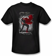 Superman T-shirt DC Comics Metropolis Guardian Adult Black Tee Shirt