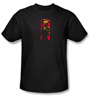 Superman T-shirt DC Comics Super Booth Adult Black Tee Shirt