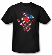 Superman T-shirt DC Comics The American Way Adult Black Tee Shirt