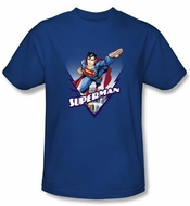 Superman T-Shirt Looks Like A Job Adult Royal Blue Tee Shirt