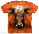 Texas Longhorn Shirt Tie Dye Adult T-Shirt Tee