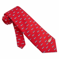 That�s Life Red Silk Tie Necktie - Men's Animal Print Neck Tie