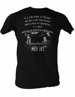 The Blues Brothers 106 Miles Adult Black Tee Shirt