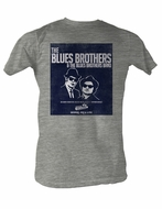 The Blues Brothers Blues Brothers And The Band Heather Gray Tee Shirt