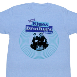 The Blues Brothers Shirt Circle Bros Adult Light Blue Tee T-Shirt