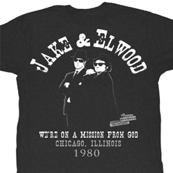 The Blues Brothers Shirt Jake And Elwood Adult Black Tee T-Shirt