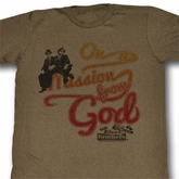 The Blues Brothers Shirt Mission Adult Brown Heather Tee T-Shirt