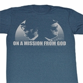 The Blues Brothers Shirt Mission From God Adult Heather Blue T-Shirt