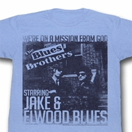 The Blues Brothers Shirt More Missions Adult Blue Tee T-Shirt