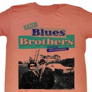 The Blues Brothers Shirt Official Adult Salmon Tee T-Shirt