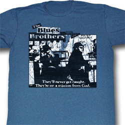 The Blues Brothers Shirt Polish Sausage Adult Blue Heather Tee T-Shirt
