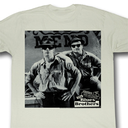 The Blues Brothers Shirt Shades Adult Natural Tee T-Shirt