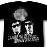 The Blues Brothers Shirt Show Me Your Moon Adult Black Tee T-Shirt