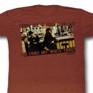 The Blues Brothers Shirt Toasted Adult Red Heather Tee T-Shirt