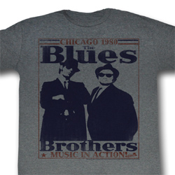 The Blues Brothers Shirt World Class Adult Grey Tee T-Shirt